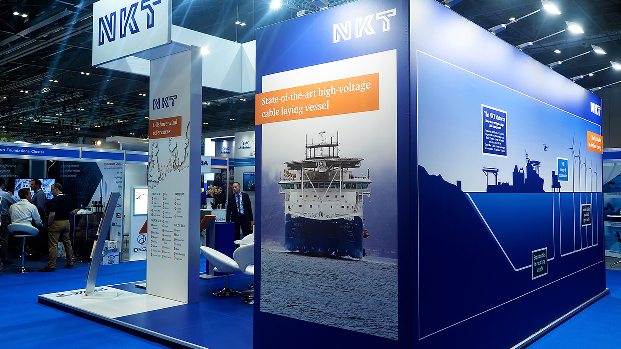 Messestand NKT OffshoreWindenergy 2